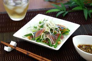 さんまのオリエンタルサラダ(使用商品:すだちぽん酢)