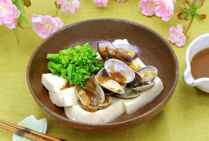 豆腐と旬の蒸し寄せ (使用商品:わさび胡麻ドレッシング)