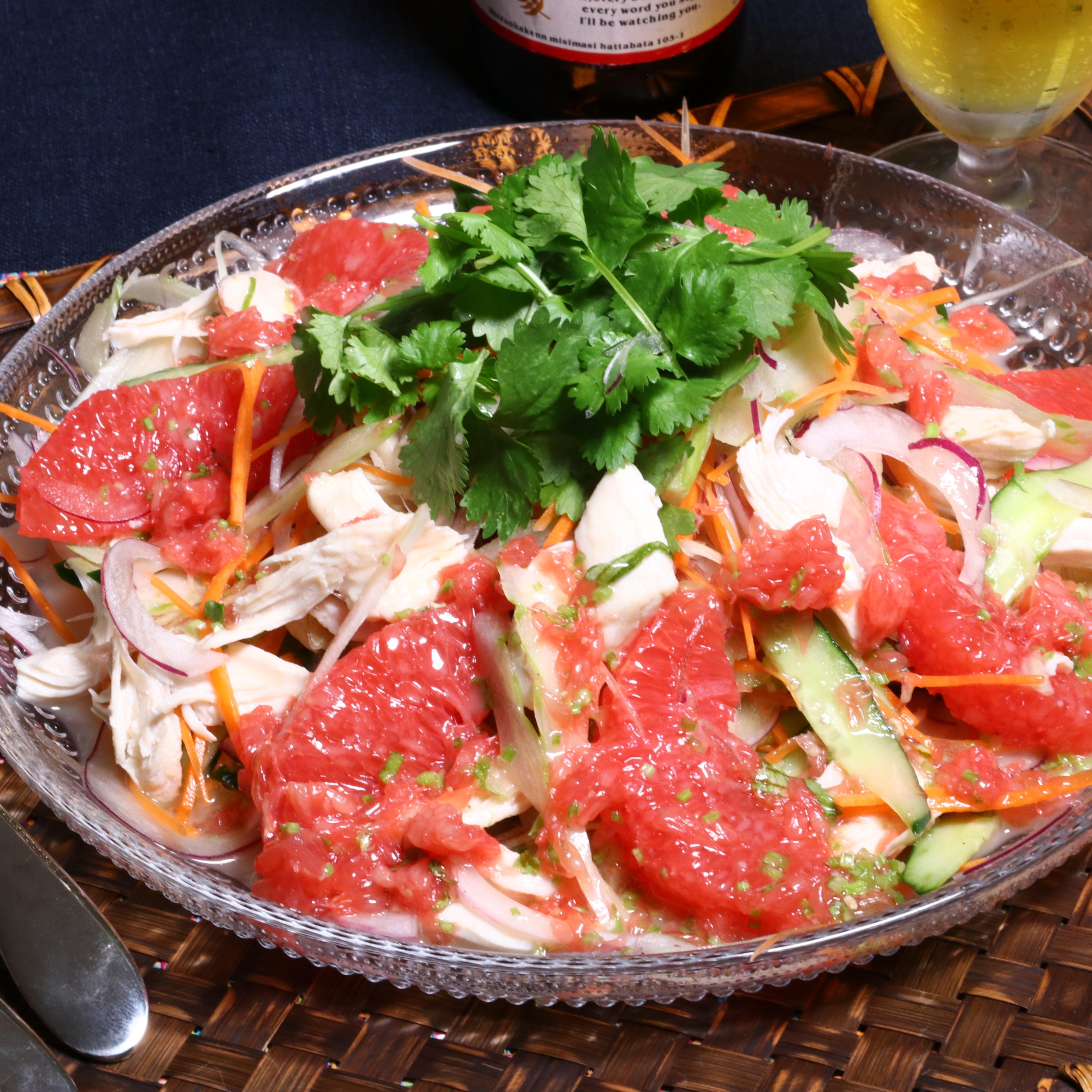 ささみと香味野菜のアジアンサラダ(こく旨醤油たれ)